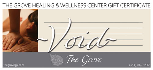The Grove Healing & Wellness Center - Massage Therapy Gift Certificate